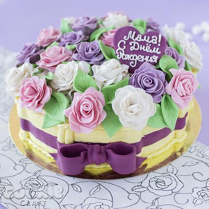 Торт-корзинка с цветами